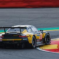 #56, Team Project 1, Porsche 911 RSR, LMGTE Am, driven by: Jorg Bergmeister, Patrick Lindsey, Egidio Perfetti at FIA WEC Spa 6h 2019 on 04.06.2019 at Circuit de Spa-Francorchamps, Belgium