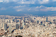 Aerial view of Tel Aviv, Israel looking north east