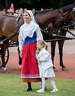 Bornholm,  14-07-2016<br /> <br /> Birthday celebration of Crown Princess Victoria at Bornholm Stadium.<br /> <br /> Sinter Frans  Eurovision Song Contest performed<br /> <br /> COPYRIGHT:Royalportraits Europe/Bernard Ruebsamen
