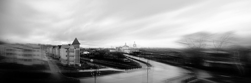 Panoramic view of Tobolsk, Siberia, Russia
