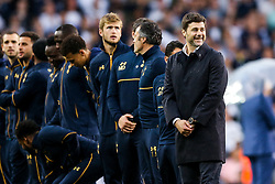 Tottenham Hotspur manager Mauricio Pochettino looks on as Spurs put on a farewell show with former and current players after the final game at White Hart Lane before it's closure for demolition and redevelopment - Rogan Thomson/JMP - 14/05/2017 - FOOTBALL - White Hart Lane - London, England - Tottenham Hotspur v Manchester United - Premier League.