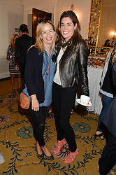 Left to right, MARISSA HERMER and SOPHIE STANBURY at a breakfast hosted by Zita West and Leo Bamford to launch a range of vitamins for babies & children held at the Royal Society of Medicine, Chandos House, 2 Queen Anne Street, London on 21st May 2015.