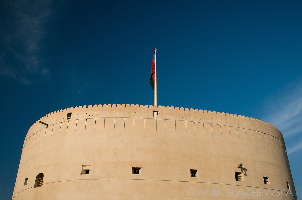 Oman, Nizwa. There are many fabulous forts in Oman, but Nizwa Fort is an especially beautiful piece of architecture.