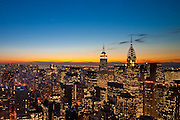 View from Trump World Tower at Sunset