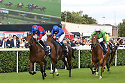 POWERFUL BREEZE (7) ridden by James Doyle and trained by Hugo Palmer winning The Group 2 William Hill May Hill Stakes over 1m (£70,000)  during the second day of the St Leger Festival at Doncaster Racecourse, Doncaster, United Kingdom on 12 September 2019.