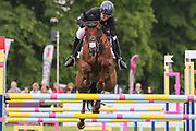 Jalapeno III ridden by Gemma Tattersall in the Equi-Trek CCI-4* Show Jumping during the Bramham International Horse Trials 2019 at Bramham Park, Bramham, United Kingdom on 9 June 2019.