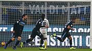 Foto Spada/LaPresse<br /> 31 gennaio 2019 Milano , Italia <br /> sport<br /> calcio<br /> Inter - Lazio  - Coppa Italia Quarti di finale -  2018/2019 -Stadio <br /> San Siro <br /> Nella foto: esultanza dopo il gol immobile 0-1<br /> <br /> EXCLUSIVE MILAN <br /> Photo Spada/LaPresse<br /> January  31 , 2019 Milan , Italy<br /> sport<br /> soccer <br /> Inter vs Lazio - Football Italian Cup 2018/2019 - San Siro Stadium<br /> In the pic: celebrates after scoring immobile 0-1