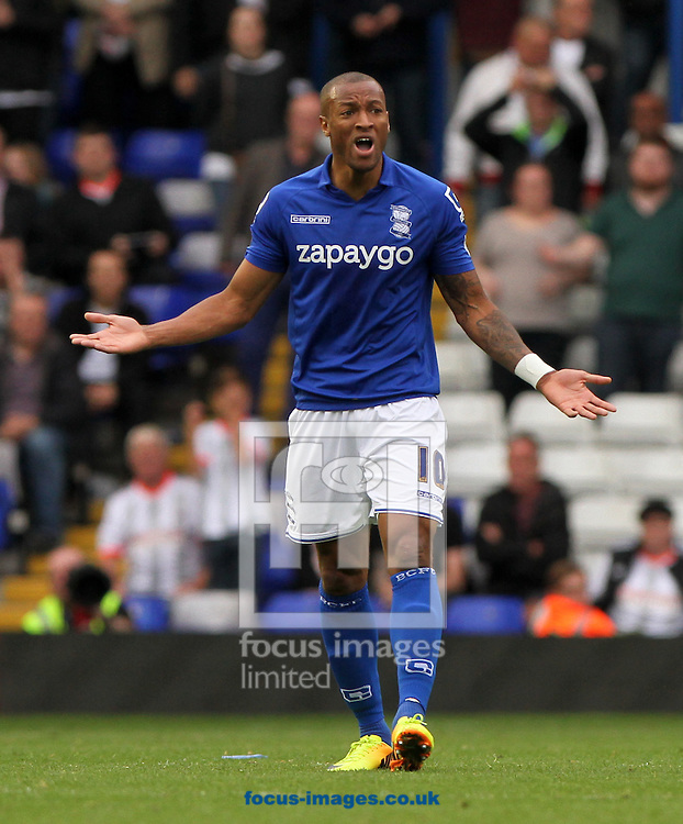 Wes Thomas of Birmingham City during the Sky Bet Championship match at St Andrews, Birmingham<br /> Picture by Tom Smith/Focus Images Ltd 07545141164<br /> 27/09/2014