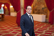 French President Francois Hollande recives Prime Minister of Poland Ewa Kopacz, concerning the polish - french yearly political meeting, Paris, France