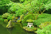 Pagoda and pond at the Japanese Garden, Portland, Oregon