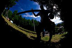Ski jumper during ski jumping event Old Eagles - Stari Orli 2013 organised by SK Trzic - Trifix on May 18, 2013 in Sebenje pri Trzicu, Slovenia. (Photo By Vid Ponikvar / Sportida)