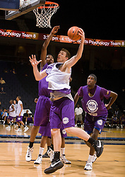 C Garrick Sherman (Kenton, OH / Kenton) grabs a rebound.  The NBA Player's Association held their annual Top 100 basketball camp at the John Paul Jones Arena on the Grounds of the University of Virginia in Charlottesville, VA on June 20, 2008