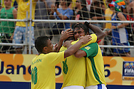 Footbal-FIFA Beach Soccer World Cup 2006 -  Semi Final- BRA xPOR -Bruno celebrates the goal  -Rio de Janeiro- Brazil - 11/11/2006.<br />