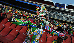 Johannesburg South Africa Opening Ceremony Confederations Cup 2009 14.06.2009.Colourful fan.