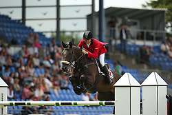 Ell Norbert, (POR), T-Quinta<br /> Team Competition round 1 and Individual Competition round 1<br /> FEI European Championships - Aachen 2015<br /> © Hippo Foto - Stefan Lafrentz<br /> 19/08/15