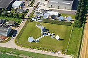 Nederland, Flevoland, Biddinghuizen, 27-08-2013; Carrier to Carrier (C2C), bedrijf gespecialiseerd in wereldwijde communicatie per satelliet.<br /> Carrier to Carrier (C2C), company that specializes in global satellite communications<br /> aerial photo (additional fee required);<br /> copyright foto/photo Siebe Swart.