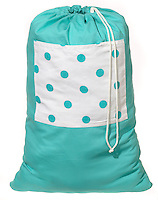 cloth polka dot laundry bag