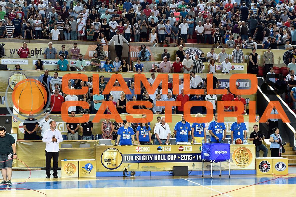 DESCRIZIONE : Tbilisi Nazionale Italia Uomini Tbilisi City Hall Cup Italia Italy Georgia Georgia<br /> GIOCATORE : tifosi<br /> CATEGORIA : tifosi<br /> SQUADRA : tifosi<br /> EVENTO : Tbilisi City Hall Cup<br /> GARA : Italia Italy Georgia Georgia<br /> DATA : 16/08/2015<br /> SPORT : Pallacanestro<br /> AUTORE : Agenzia Ciamillo-Castoria/GiulioCiamillo<br /> Galleria : FIP Nazionali 2015<br /> Fotonotizia : Tbilisi Nazionale Italia Uomini Tbilisi City Hall Cup Italia Italy Georgia Georgia