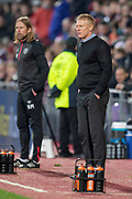 Livingston manager Gary Holt (right) during the 4th round of the William Hill Scottish Cup match between Heart of Midlothian and Livingston at Tynecastle Stadium, Edinburgh, Scotland on 20 January 2019.