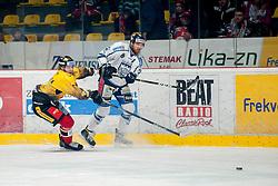 23.12.2016, Ice Rink, Znojmo, CZE, EBEL, HC Orli Znojmo vs Fehervar AV 19, 34. Runde, im Bild v.l. Patrik Kaderavek (HC Orli Znojmo) Daniel Koger (Fehervar AV19) // during the Erste Bank Icehockey League 34th round match between HC Orli Znojmo and Fehervar AV 19 at the Ice Rink in Znojmo, Czech Republic on 2016/12/23. EXPA Pictures © 2016, PhotoCredit: EXPA/ Rostislav Pfeffer