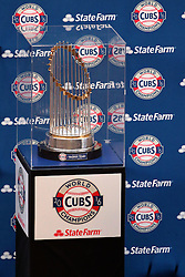 18 January 2017:   Chicago Cubs World Series Trophy on the State Farm tour.