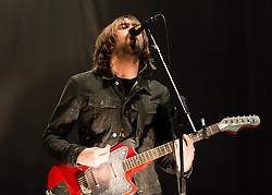 © Licensed to London News Pictures. 02/05/2013. London, UK.   Justin Young of The Vaccines performing live at The O2 Arena.The Vaccines are an English indie rock band composed of Justin Young (guitar/vocals), Arni Arnason (bass), Pete Robertson (drums) and Freddie Cowan (guitar). Photo credit : Richard Isaac/LNP