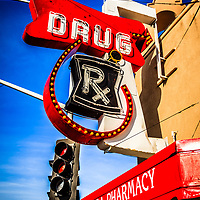 Balboa Pharmacy Drug Store in Newport Beach photo. Balboa Pharmacy is located at Main Street and Balboa Boulevard on Balboa Peninsula in Newport Beach California.