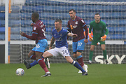 Peter Clarke (Captain) Oldham Defender during the EFL Sky Bet League 1 match between Oldham Athletic and Scunthorpe United at Boundary Park, Oldham, England on 28 October 2017. Photo by George Franks.