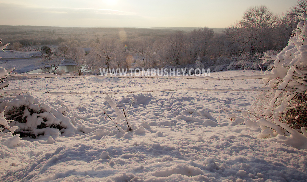 Otisville, NY - A field in covered in snow on the morning after a storm  on Dec. 6, 2009.
