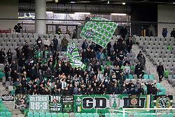 Supporters of NK Olimpija Ljubljana, Green Dragons during football match between NK Olimpija Ljubljana and NK Celje in 1st leg match in Semifinal of Slovenian cup 2017/2018, on April 4, 2018 in SRC Stozice, Ljubljana, Slovenia. Photo by Urban Urbanc / Sportida
