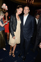 JEMIMA JONES and BEN GOLDSMITH at the Hoping Foundation's 'Rock On' Benefit Evening for Palestinian refuge children held at the Cafe de Paris, London on 20th June 2013.