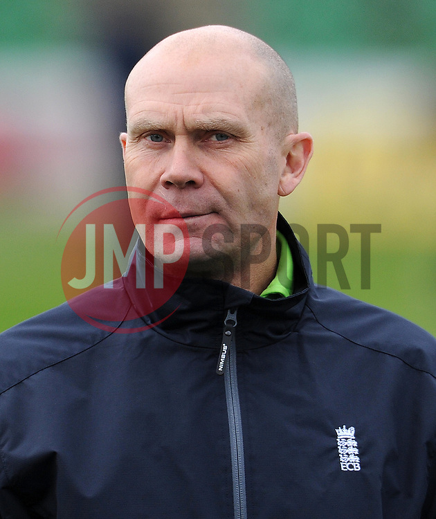 Umpire Mike Burns - Photo mandatory by-line: Harry Trump/JMP - Mobile: 07966 386802 - 30/03/15 - SPORT - CRICKET - Pre Season Fixture - T20 - Somerset v Gloucestershire - The County Ground, Somerset, England.