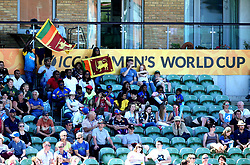 Sri Lankan fans support their team at Taunton during the Women's World Cup - Mandatory by-line: Robbie Stephenson/JMP - 02/07/2017 - CRICKET - County Ground - Taunton, United Kingdom - England Women v Sri Lanka Women - ICC Women's World Cup Group Stage