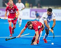 BHUBANESWAR (INDIA) - Sebastien Dockier (Belgie)   tijdens Belgie-Pakistan bij het WK Hockey heren.    COPYRIGHT KOEN SUYK