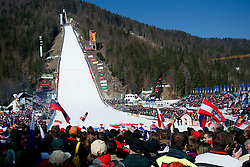 View on the hill during Flying Hill Team at 3rd day of FIS Ski Jumping World Cup Finals Planica 2012, on March 17, 2012, Planica, Slovenia. (Photo by Matic Klansek Velej / Sportida.com)
