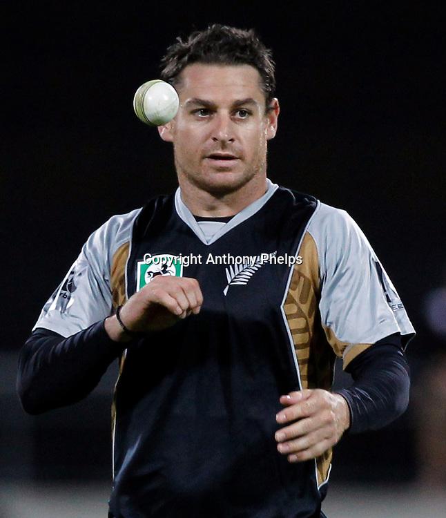 Nathan McCullum New Zealand v Australia Twenty20 cricket match. Westpac Stadium, Wellington. Friday 26 February 2010. Photo: Anthony Phelps/PHOTOSPORT