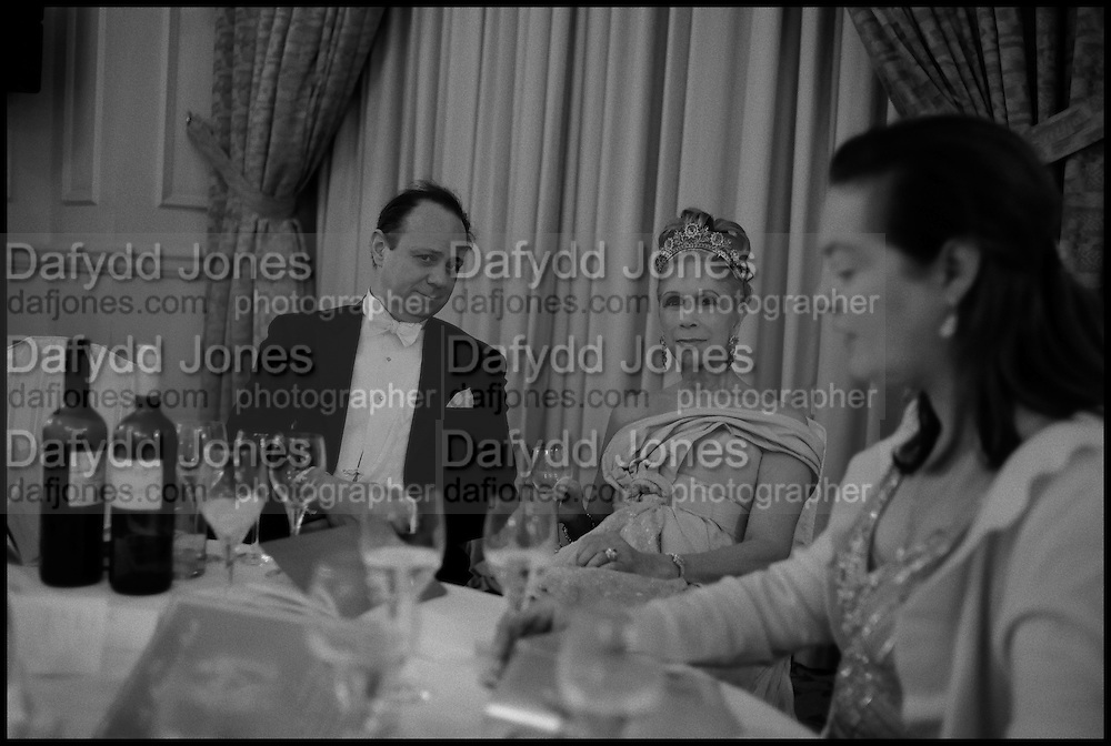 PRINCE  DIMITRI LOBANOV-ROSTOVSKY; LADY GEORGIA CAMPBELL CAMILLA DUESER, The St. Petersburg Ball. In aid of the Children's Burns Trust. The Landmark Hotel. Marylebone Rd. London. 14 February 2015.