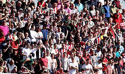 Sheffield United fans - Mandatory by-line: Robbie Stephenson/JMP - 08/04/2017 - FOOTBALL - Sixfields Stadium - Northampton, England - Northampton Town v Sheffield United - Sky Bet League One