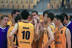 Team of Luka Koper at 12th Round of UPC League basketball match between KK Luka Koper and KK Zlatorog Lasko, on May 2, 2009, in Arena Bonifika, Koper, Slovenia. Zlatorog won the match 72:71. (Photo by Vid Ponikvar / Sportida)