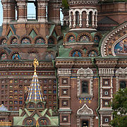 The Church of Our Savior on Spilled Blood, a Russian-style church was built on the spot where Emperor Alexander II was assassinated in Saint Petersburg on March 1881. <br /> Photography by Jose More