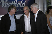 STEVEN LOWY, SIR PHILIP GREEN AND DAVID SLADE, Westfield launch at the BFC tent prior toLondon Fashion week. 17 September 2006. ONE TIME USE ONLY - DO NOT ARCHIVE  © Copyright Photograph by Dafydd Jones 66 Stockwell Park Rd. London SW9 0DA Tel 020 7733 0108 www.dafjones.com