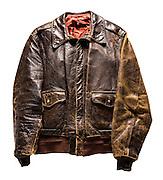 A-2 jacket that belonged to Captain Neal Workman, a B-24 pilot.