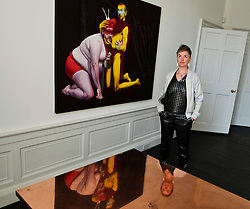 Pictured: Kirsty Whiton<br /> <br /> Artist Kirsty Whiten opened her new solo exhibition, Icon Oracle, today at the Arusha Gallery on Dundas Street, Edinburgh<br /> <br /> Ger Harley   EEm 8 June 2018