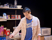 Wish List <br /> by Katherine Soper <br /> directed by Matthew Xia <br /> at the Royal Court Theatre, London, Great Britain <br /> press photocall <br /> 10th January 2017 <br /> <br /> <br /> <br /> Joseph Quinn as Dean Carmody <br /> <br /> <br /> <br /> <br /> <br /> Photograph by Elliott Franks <br /> Image licensed to Elliott Franks Photography Services