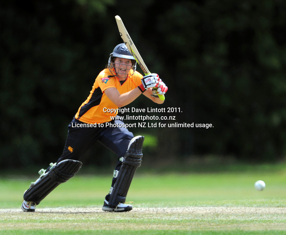 Women's Twenty20 cricket - Wellington Blaze v Canterbury Magicians at Barton Oval, Upper Hutt, Wellington on Tuesday, 4 January 2011. Photo: Dave Lintott / photosport.co.nz