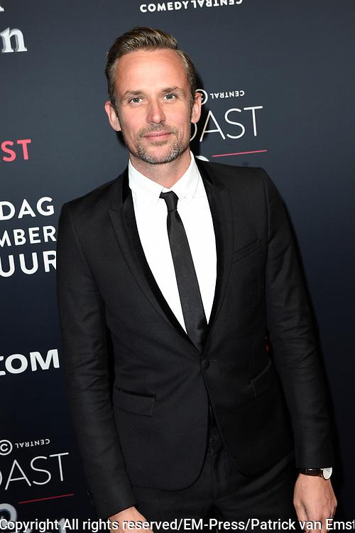 Rode loper Roast of Giel.  In het programma van Comedy Central is een bekende Nederlander een avond lang het onderwerp van harde grappen.<br /> <br /> Op de foto:  Patrick Martens