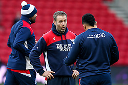 Bristol Rugby academy forwards coach Mark Irish takes charge of the team - Rogan Thomson/JMP - 11/12/2016 - RUGBY UNION - Ashton Gate Stadium - Bristol, England - Bristol Rugby v Pau - European Rugby Challenge Cup.