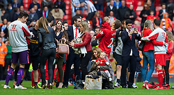 LIVERPOOL, ENGLAND - Sunday, May 11, 2014: Liverpool players' wives and girlfriends after the Premiership match at Anfield. (Pic by David Rawcliffe/Propaganda)
