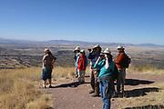Border BioBlitz, March 3, 2018, Coronado National Memorial, Hereford, Arizona, USA.  Participants take in the view of Mexico as seen from Arizona.