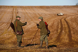 UK ENGLAND GRANTHAM 15DEC11 - Two shooters share a moment during the pheasant shooting at the Belvoir Castle Estate in Leicestershire, England...jre/Photo by Jiri Rezac..© Jiri Rezac 2011